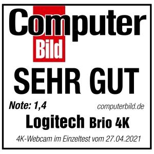 Logitech - Webcam - 90 fps - USB 3.0 - 4096 x 2160 Pixel Videoauflösung - Autofokus - 5x Digitaler Zoom - Computer