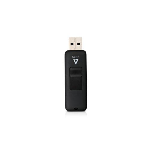 Lecteur flash V7 - 16 Go - USB 2.0 - Noir
